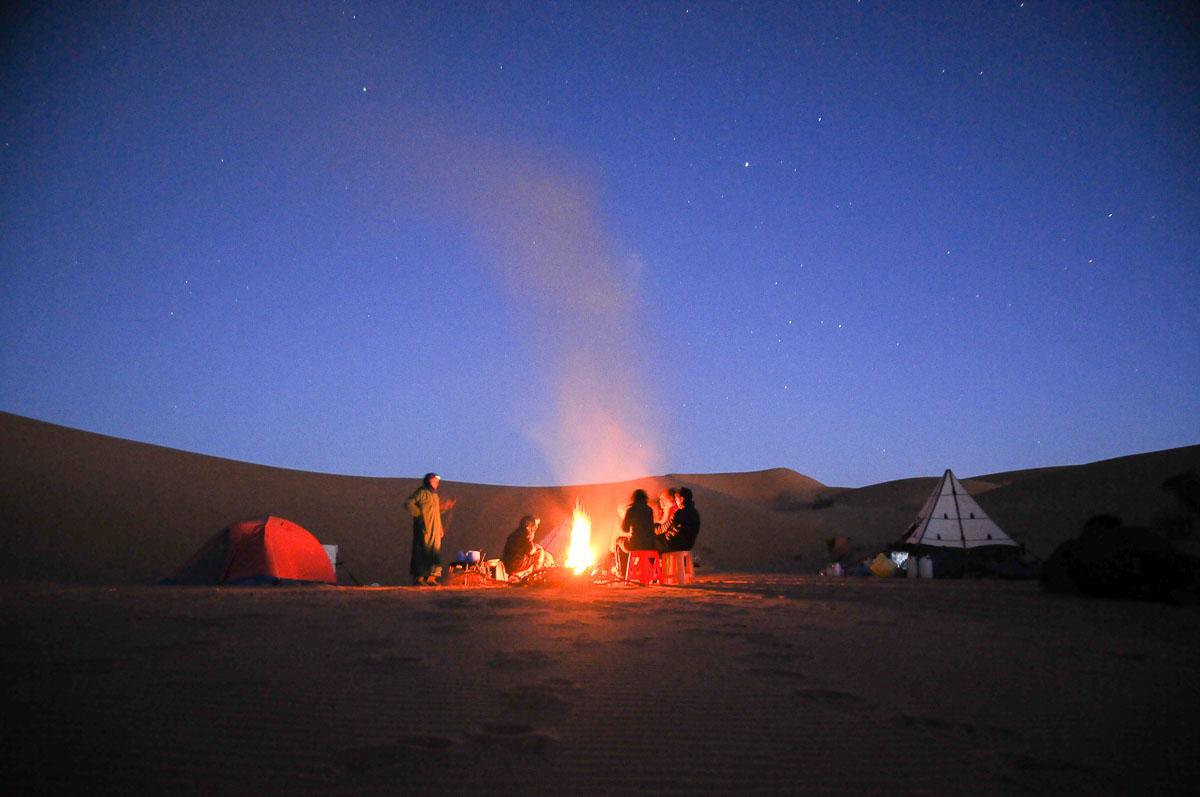 Camp nuit Trek Desert Isk, Maroc
