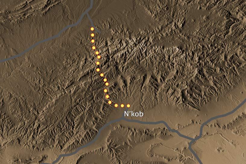 Carte Trek Saghro 201