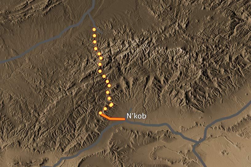 Carte Trek Saghro 205
