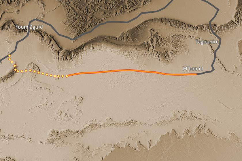 Carte Trek Erg Chgaga 190