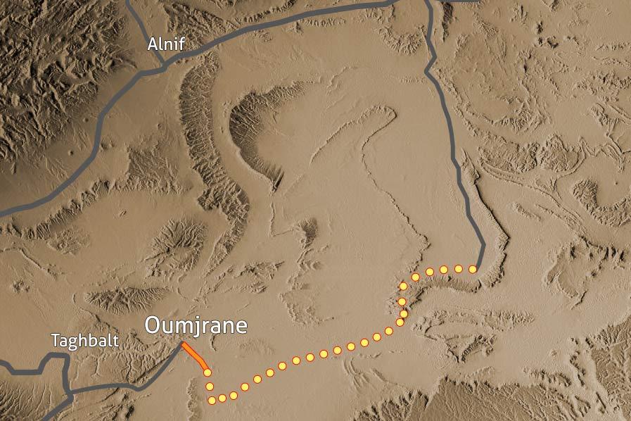 Carte Trek desert Maidr Maroc 131