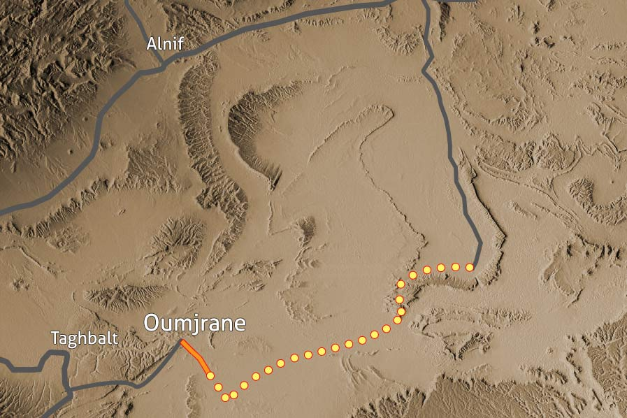 Carte Trek desert Maidr Maroc 132