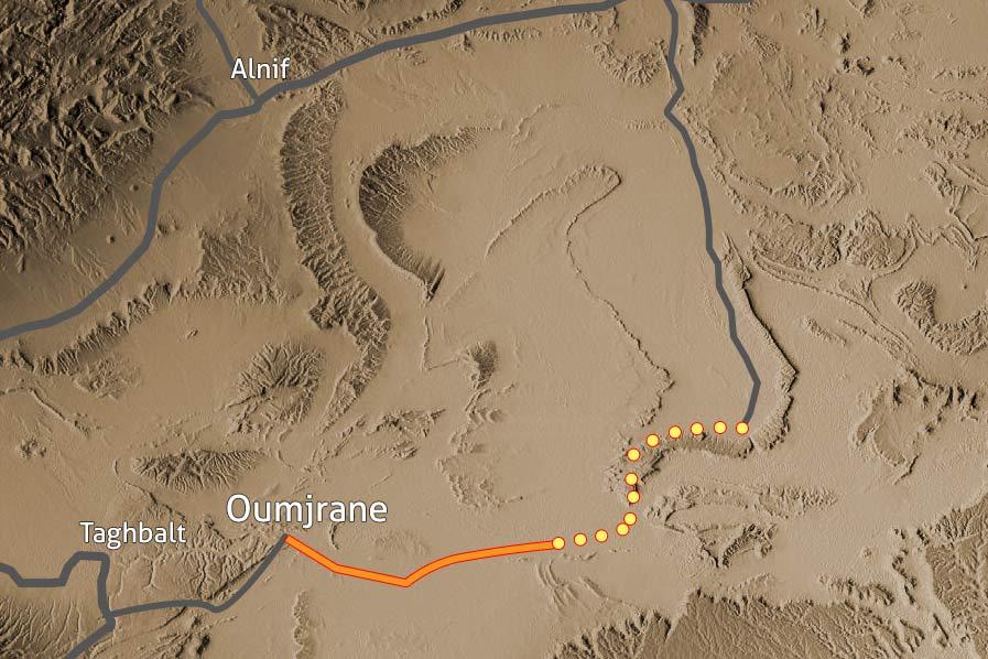 Carte Trek desert Maidr Maroc 135
