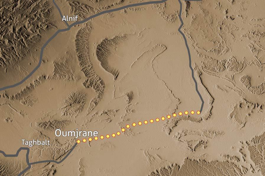Carte Trek desert Maidr Maroc 137