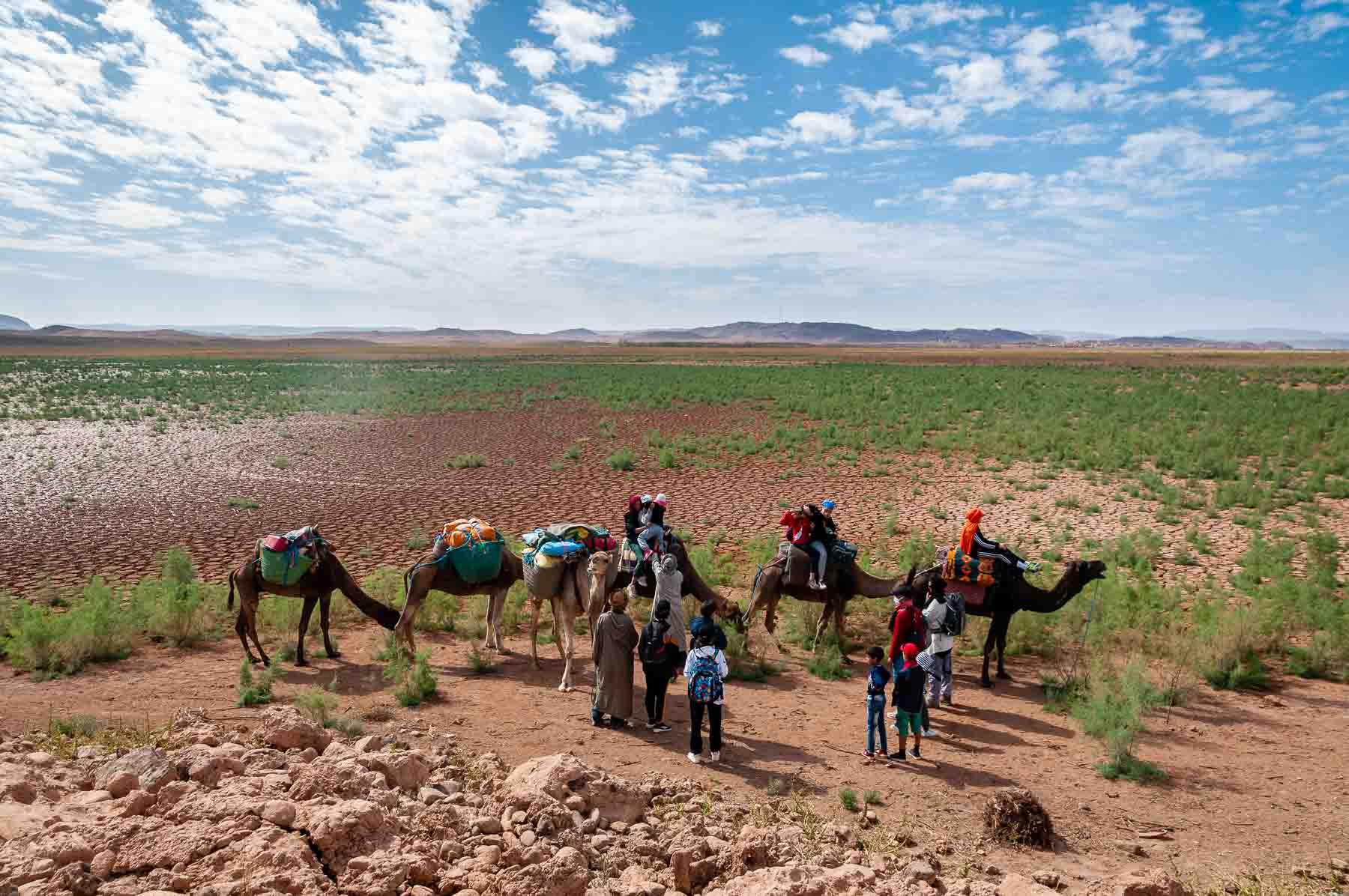 En famille de la palmeraie au lac de Ouarzazate-0114