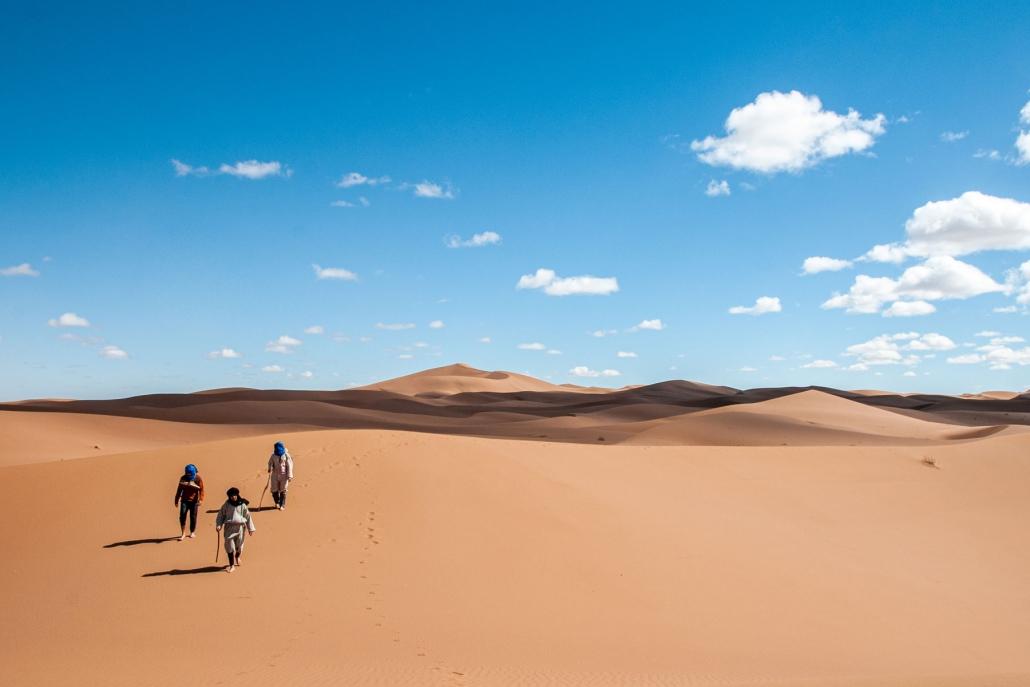 Sur la route des Marabouts du désert