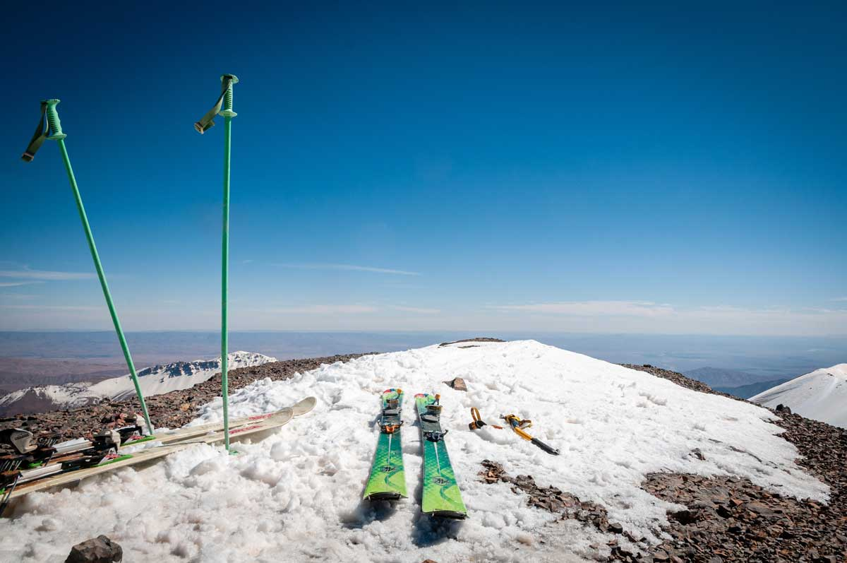 SKI de montagne, massif du Mgoun